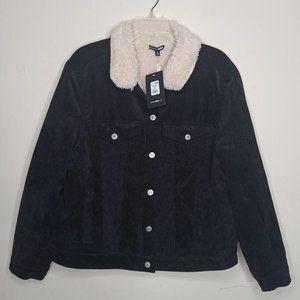 Fashion Nova Jacket Black Long Sleeves Fur Lined